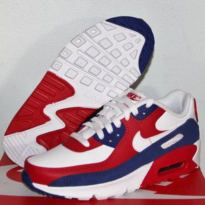 Nike Air Max 90 Leather GS USA Running Shoes 5Y